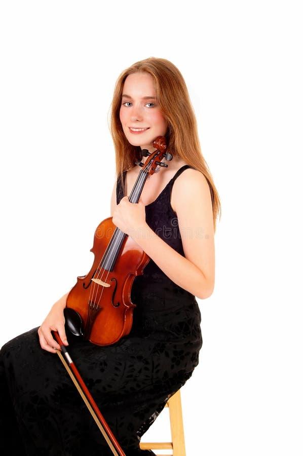Игрок скрипки женщины стоковые изображения
