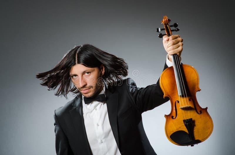 Игрок скрипки человека стоковое фото rf