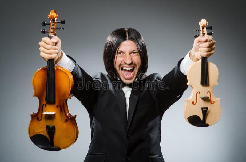 Игрок скрипки человека стоковые изображения rf