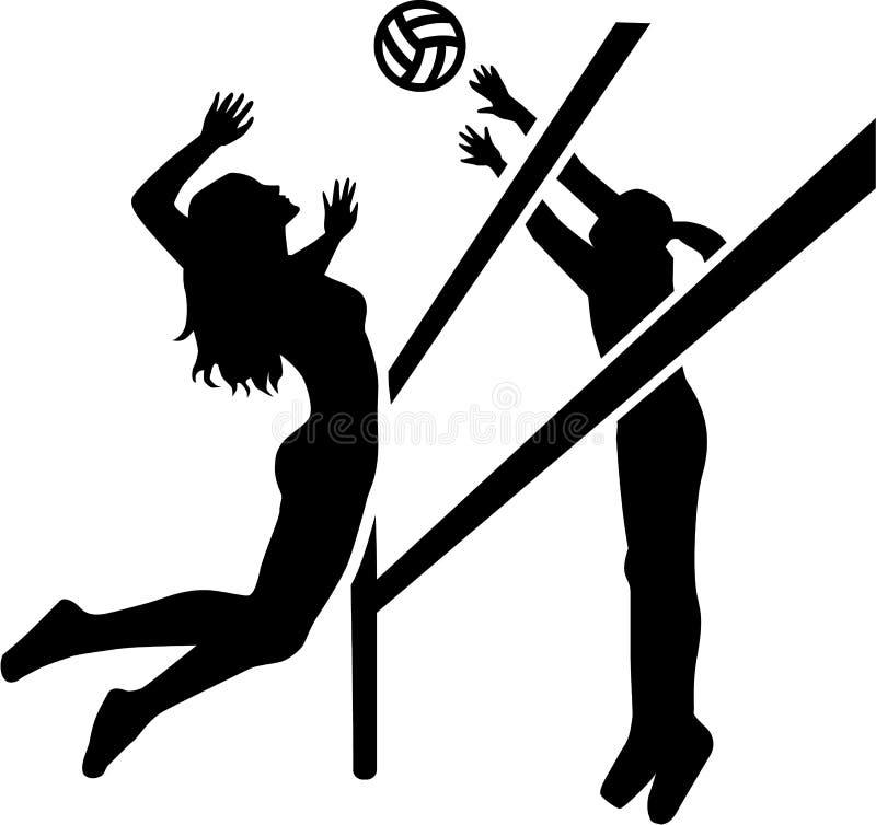 Игрок спички волейбола иллюстрация штока