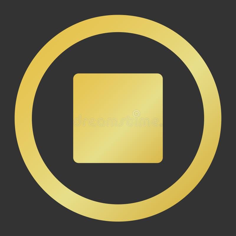 игрок стопа кнопки золота иллюстрация штока