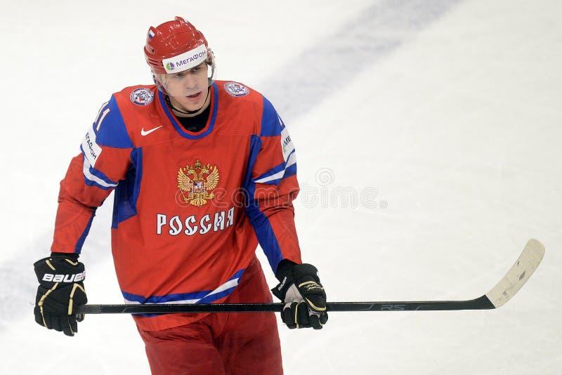 Игрок хоккея на льде Malkin России стоковое фото rf