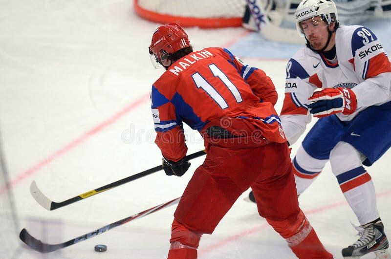 Игрок хоккея на льде Malkin России стоковое изображение rf