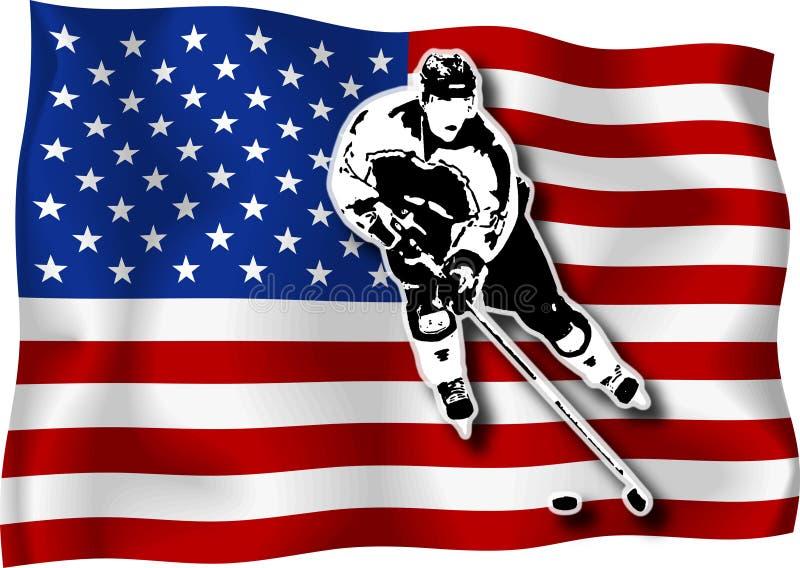 игрок хоккея США флага иллюстрация штока