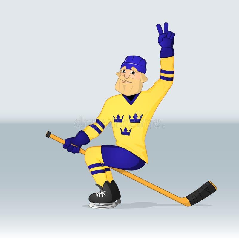 Игрок Швеции команды хоккея на льде бесплатная иллюстрация