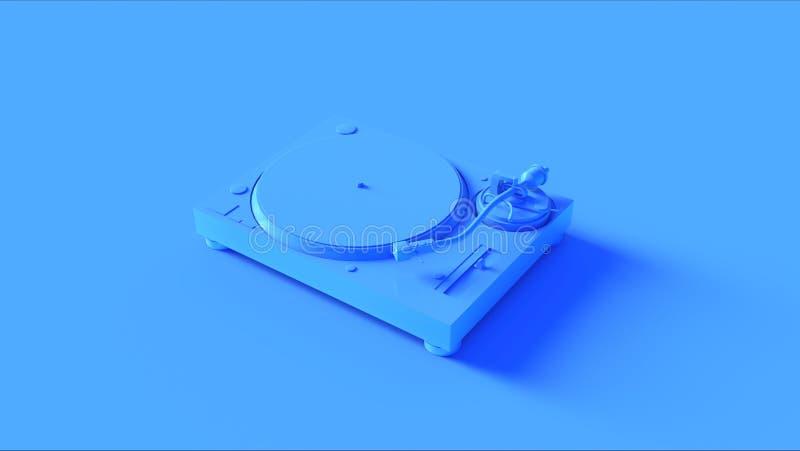 Игрок яркого голубого Turntable рекордный иллюстрация вектора