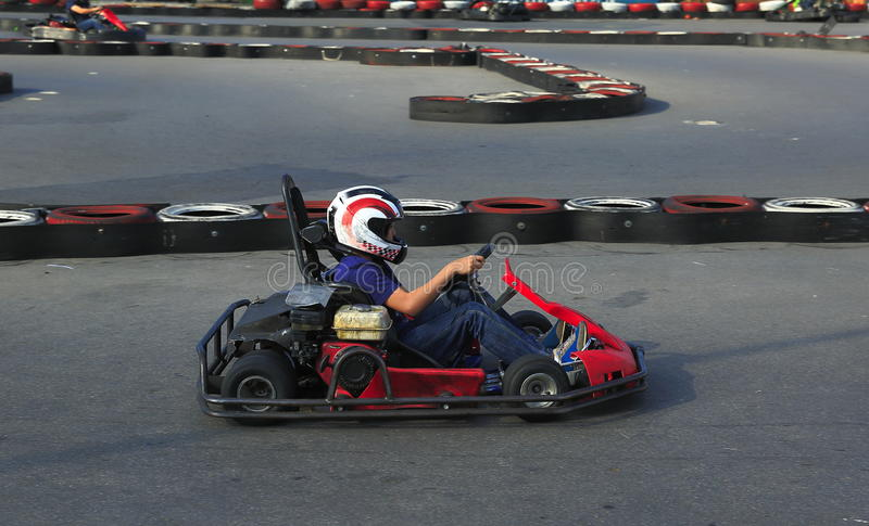 Игрок Karting стоковые фотографии rf