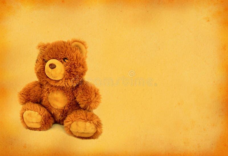 игрушечный медведя ретро стоковая фотография
