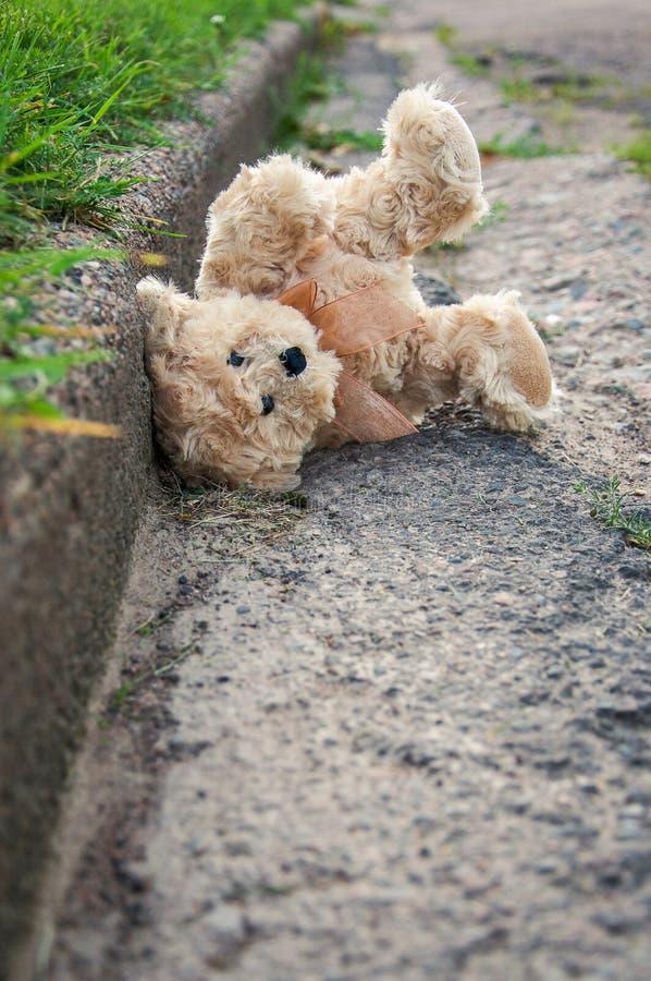 игрушечный медведя потерянный стоковые фото