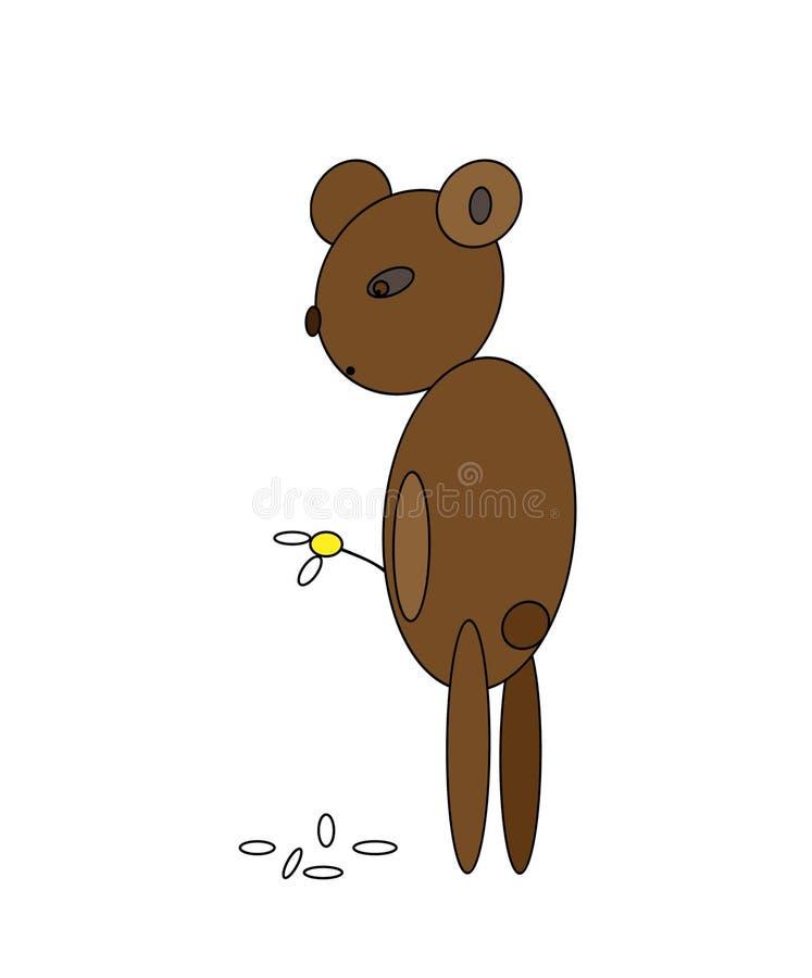 игрушечный медведя унылый стоковая фотография rf