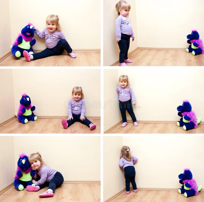 игрушка девушки установленная стоковые изображения rf