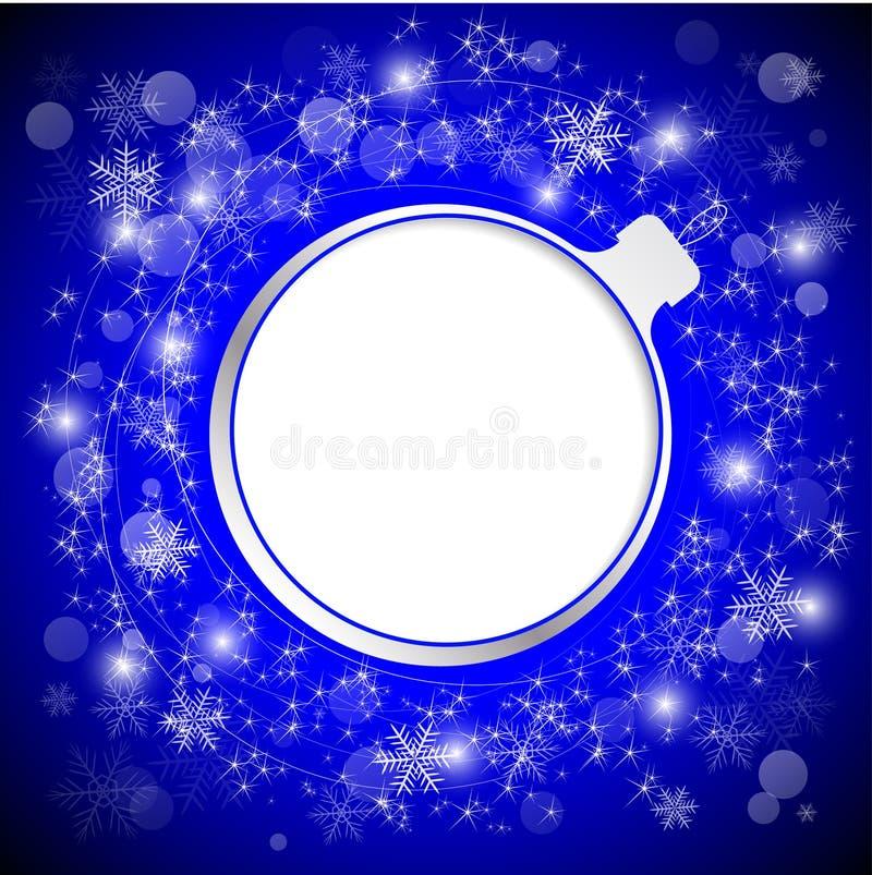 Игрушка дерева как рамка для текста Приветствия Нового Года и рождества бесплатная иллюстрация