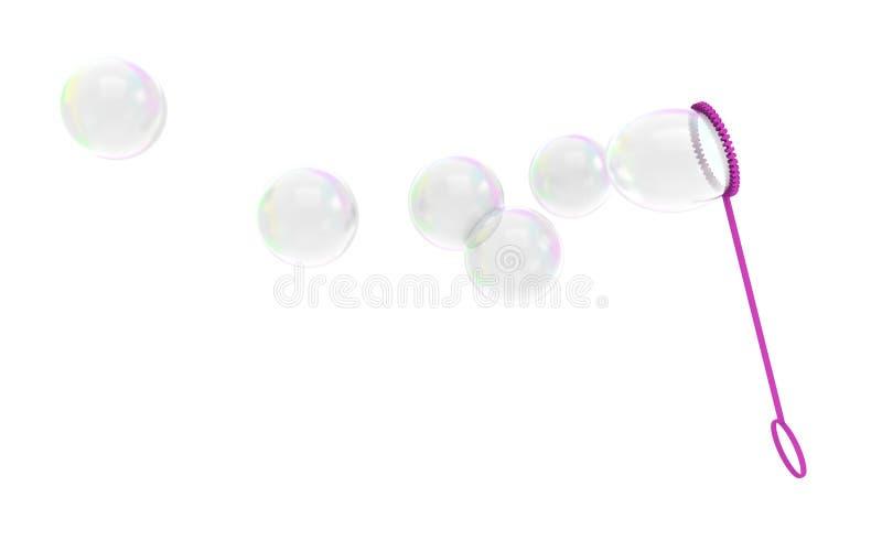 Игрушка детей палочки пузыря дуя мыльные пузыри в воздух бесплатная иллюстрация