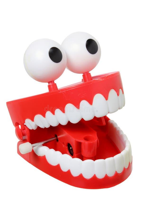 Игрушка зубов тараторить стоковое изображение