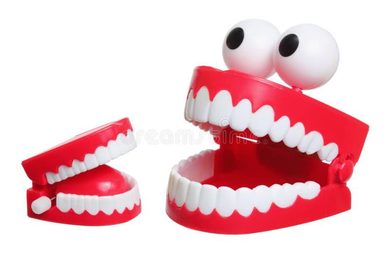 Игрушка зубов тараторить стоковые изображения rf