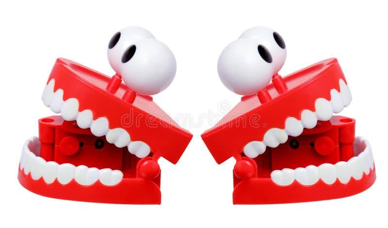 Игрушка зубов тараторить стоковая фотография rf