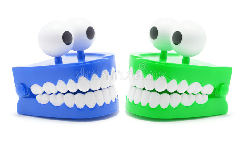 игрушка зубов тараторить стоковое изображение rf