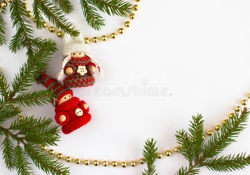 Игрушка и ель рождества стоковые изображения rf