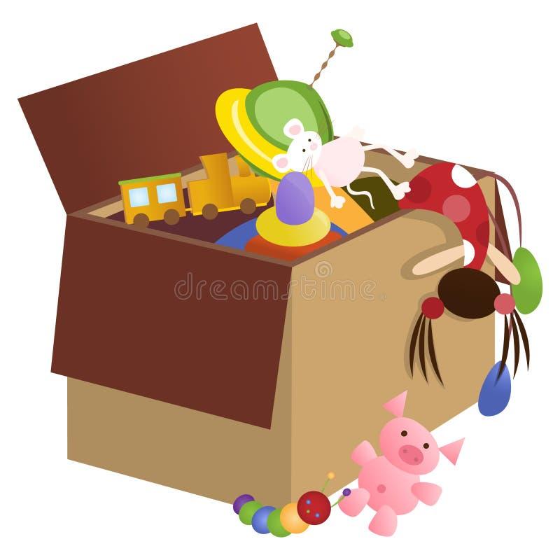 игрушка коробки иллюстрация штока