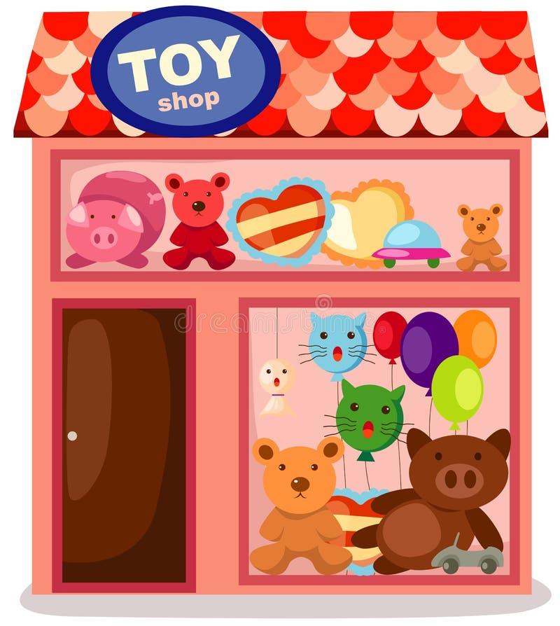 Векторные картинки для детей в магазине игрушек, поздравление