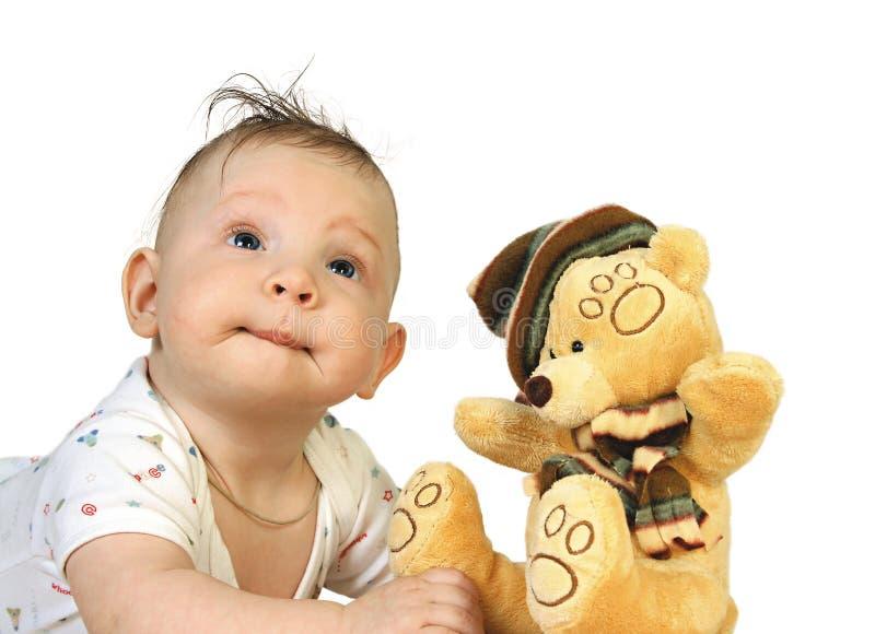 игрушка мальчика с стоковое изображение rf
