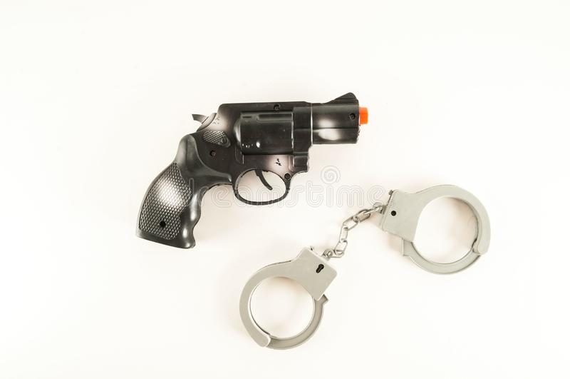 Игрушка оборудования полиции стоковые фото