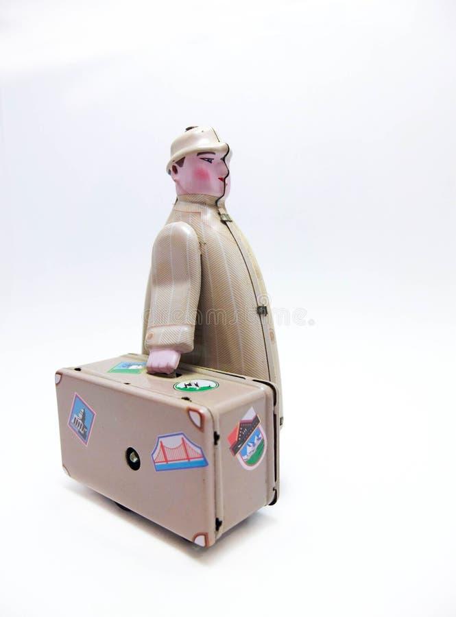 Игрушка олова путешественника стоковое изображение