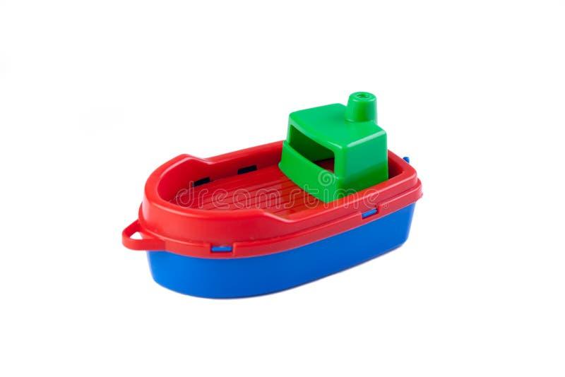 игрушка пластмассы шлюпки стоковое фото rf
