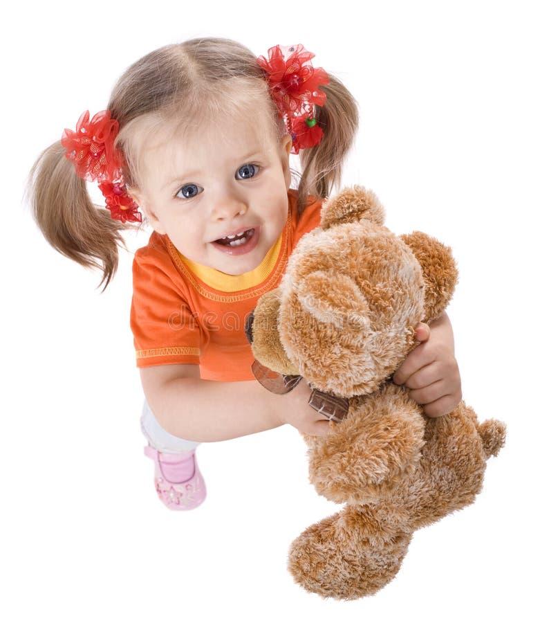 игрушка померанца девушки стоковая фотография