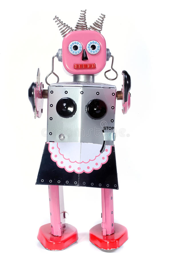 игрушка робота горничной стоковые фотографии rf