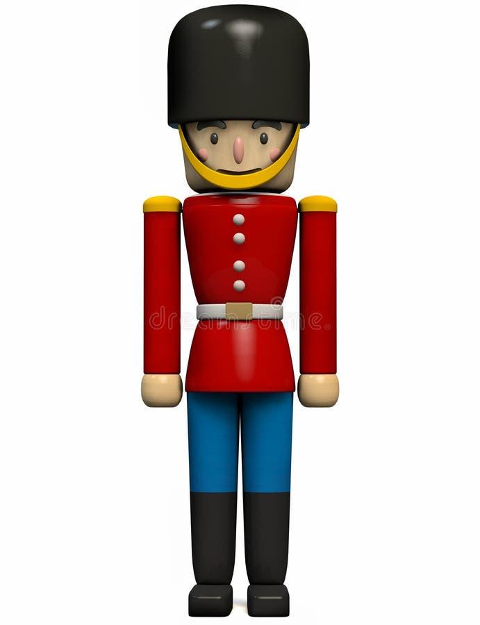 Игрушка солдата в красной и голубой форме иллюстрация вектора