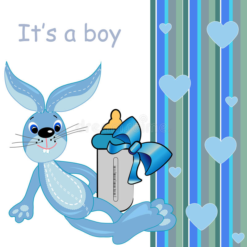 игрушка шаржа милая s карточки зайчика ребёнка иллюстрация штока