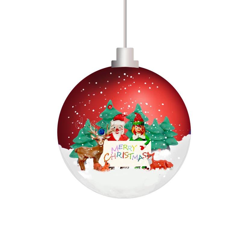 Игрушка шарика сферы картины 3D орнамента рождественской елки изолированная на белизне бесплатная иллюстрация