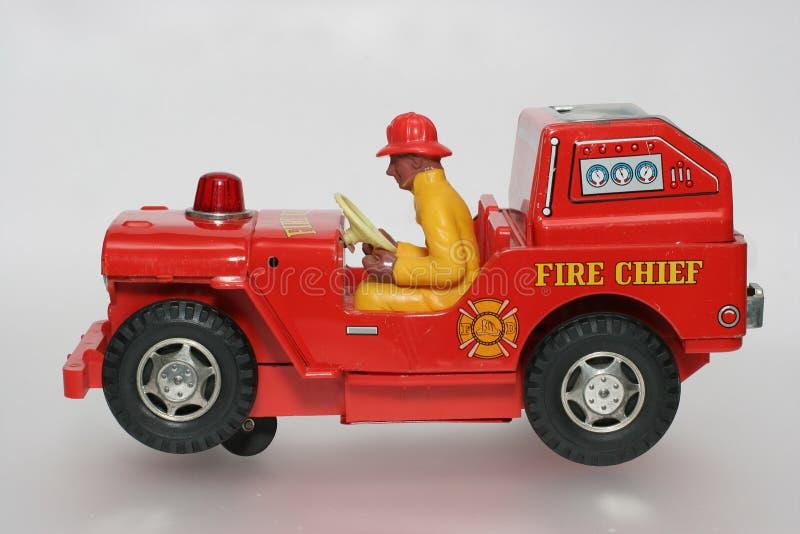 игрушка sideview пожара водителя автомобиля главная стоковое изображение rf