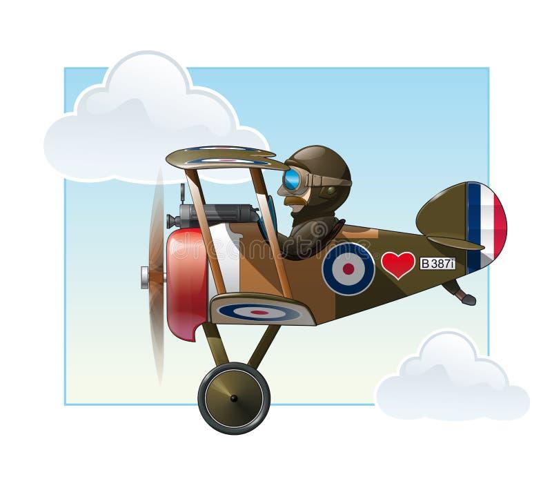 Игрушки аэроплана WW1 - Vickers бесплатная иллюстрация