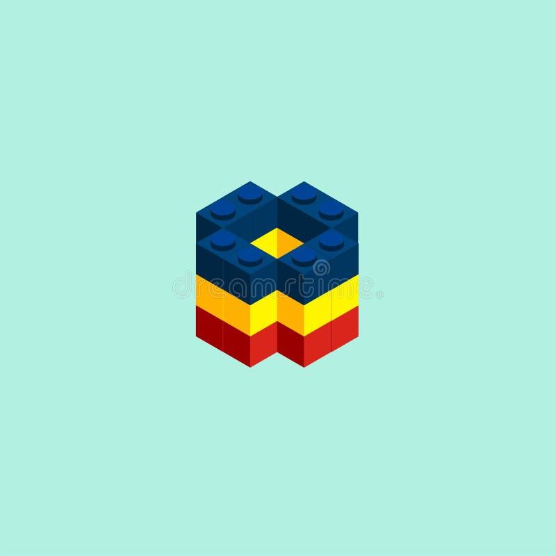 Игрушки блока кирпича стоковая фотография rf