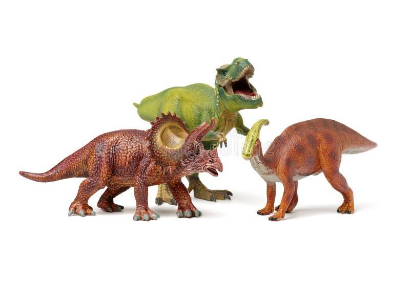 Игрушки динозавров стоковые фото