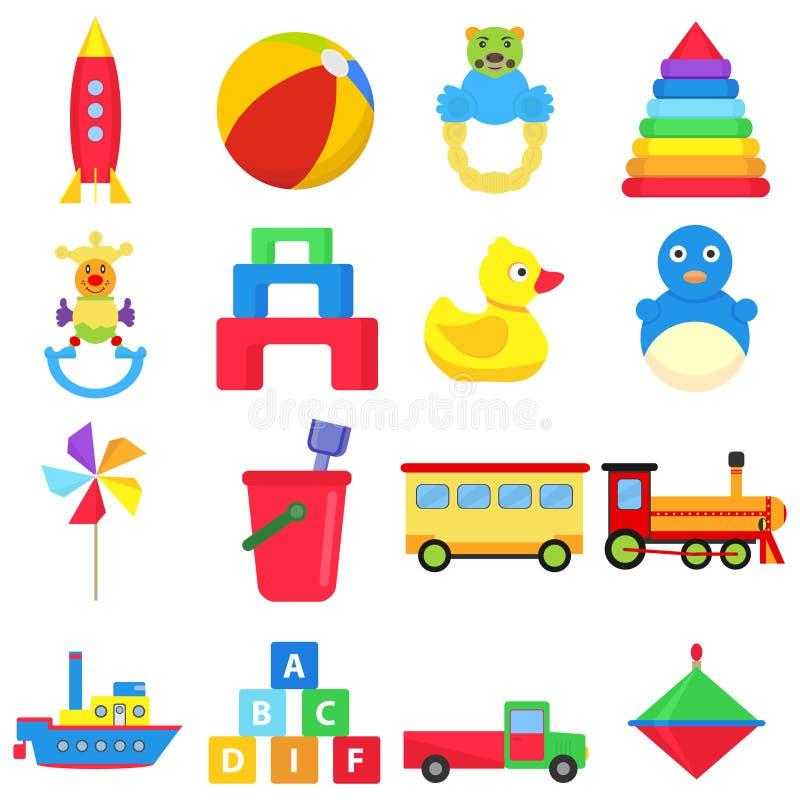Игрушки детей иллюстрация штока