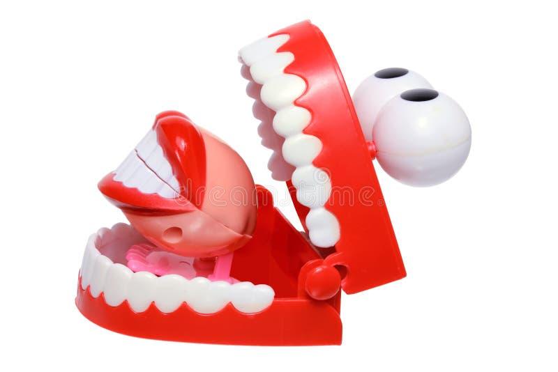 Игрушки зубов тараторить стоковое фото