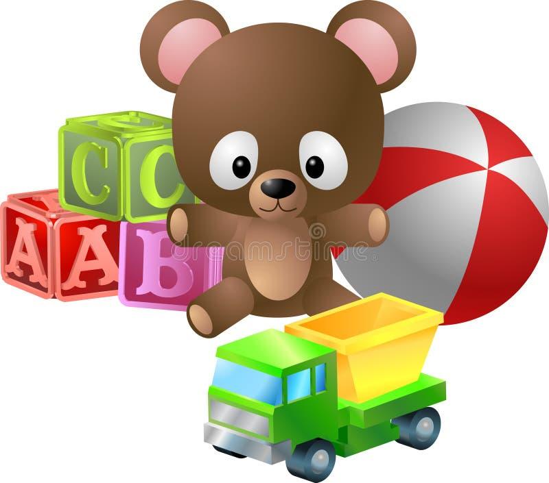 игрушки иллюстрации иллюстрация вектора