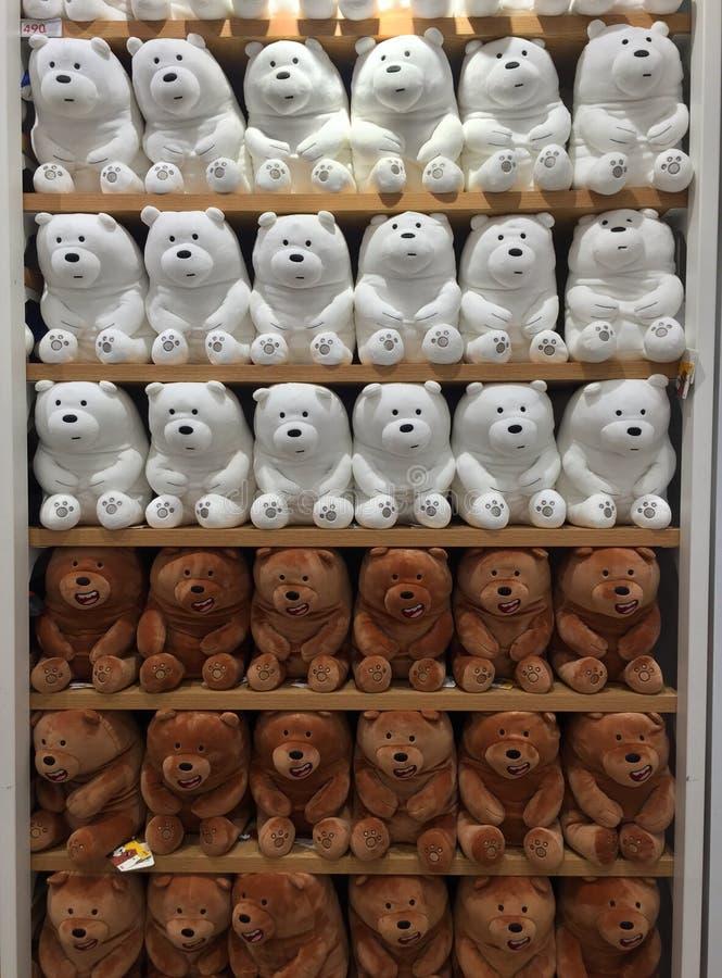Игрушки интерьеров магазина Miniso стоковое фото rf
