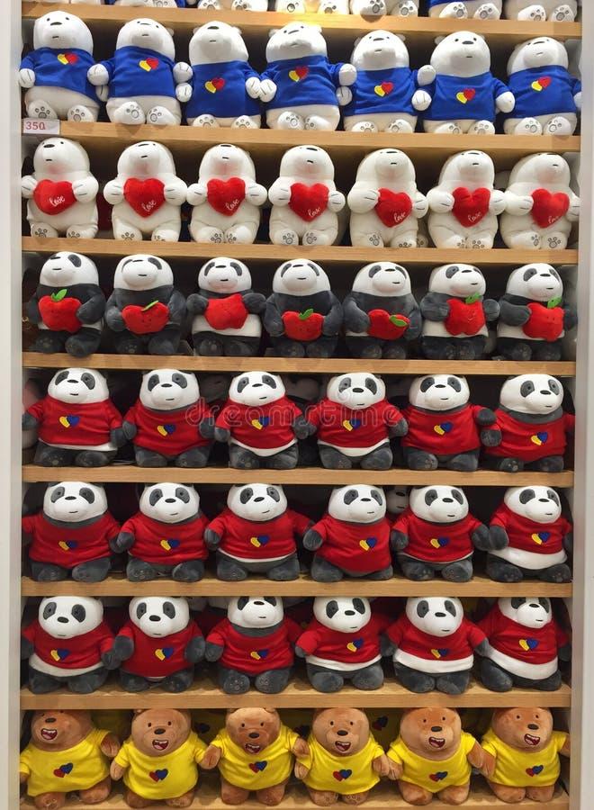 Игрушки интерьеров магазина Miniso стоковое изображение rf