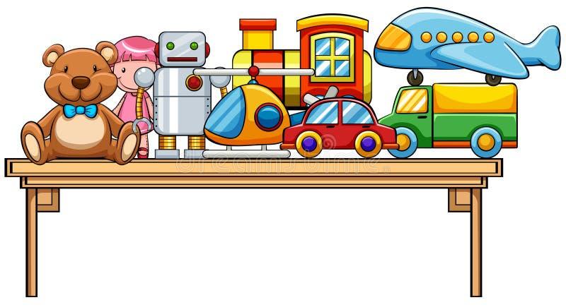 Игрушки и таблица иллюстрация штока