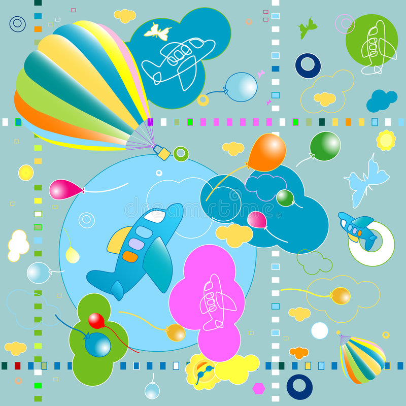 игрушки картины иллюстрация вектора