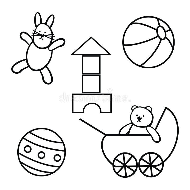 Игрушки, комплект бесплатная иллюстрация