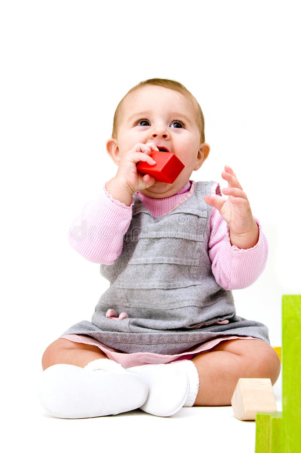 игрушки младенца милые стоковые изображения