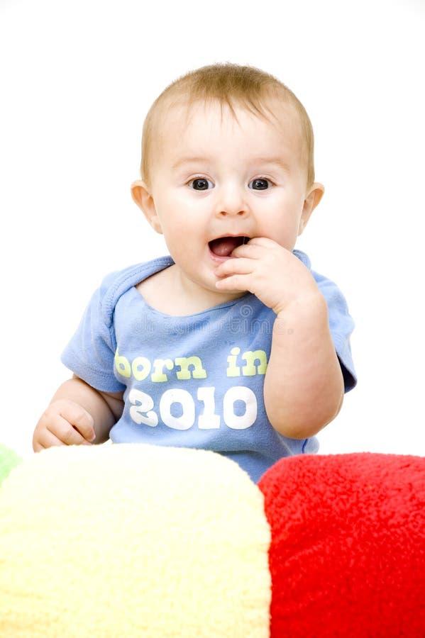 игрушки младенца милые стоковое фото