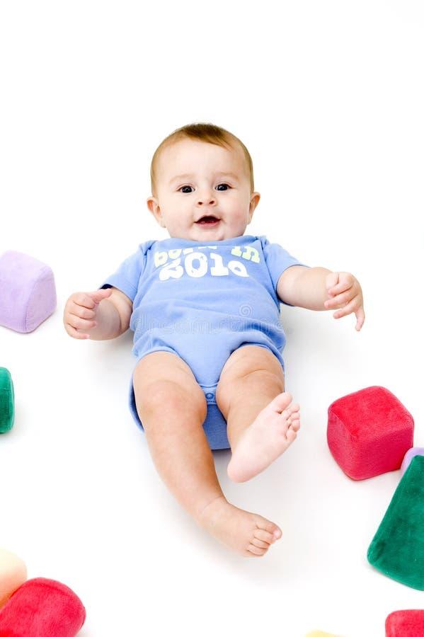 игрушки младенца милые стоковые изображения rf