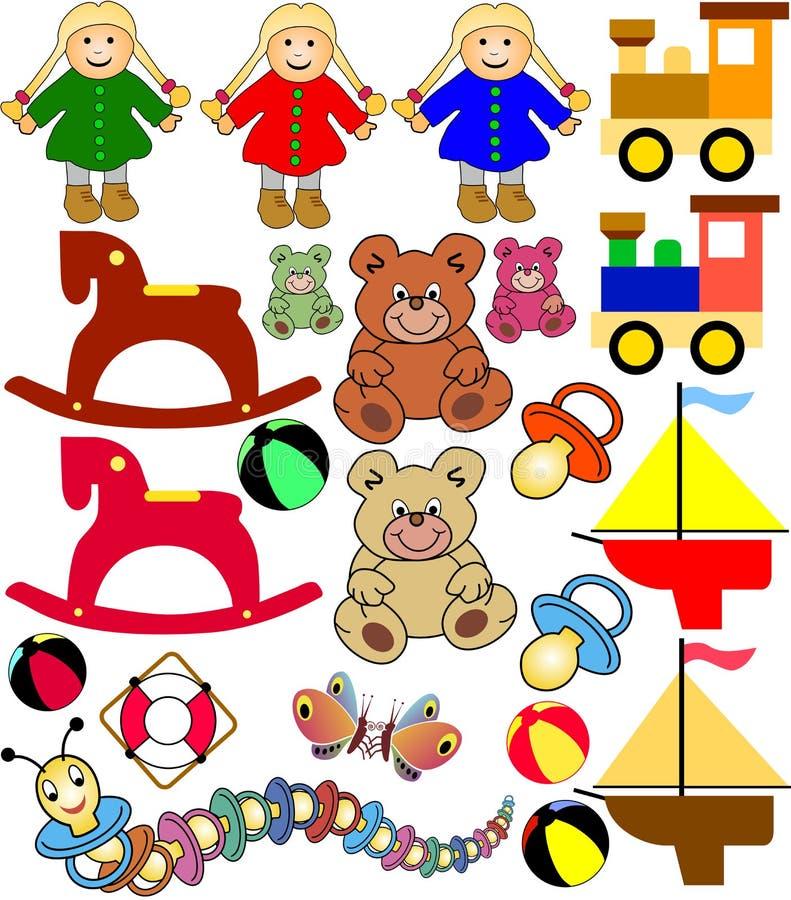игрушки младенца иллюстрация вектора