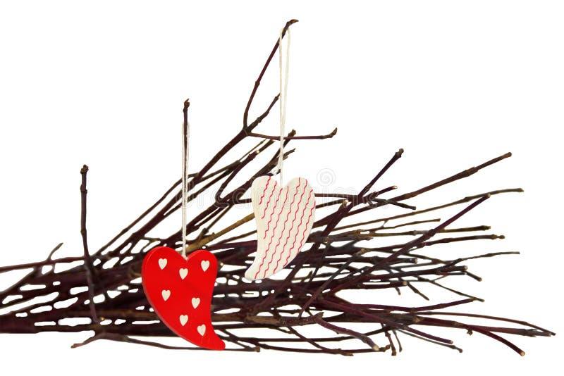 Игрушки на ветви стоковое фото rf
